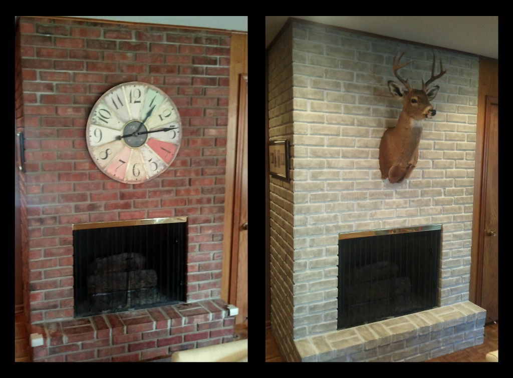 Paint a brick fireplace fireplace design ideas for Bricks painting design