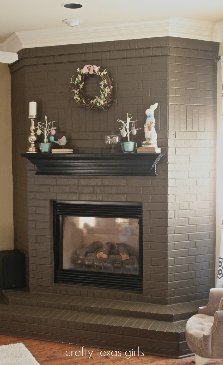 Discussing brick fireplace remodel options fireplace for Bricks painting design