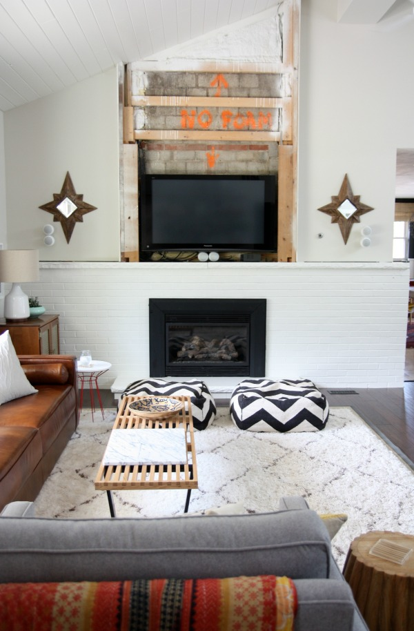 paint brick fireplace white fireplace design ideas