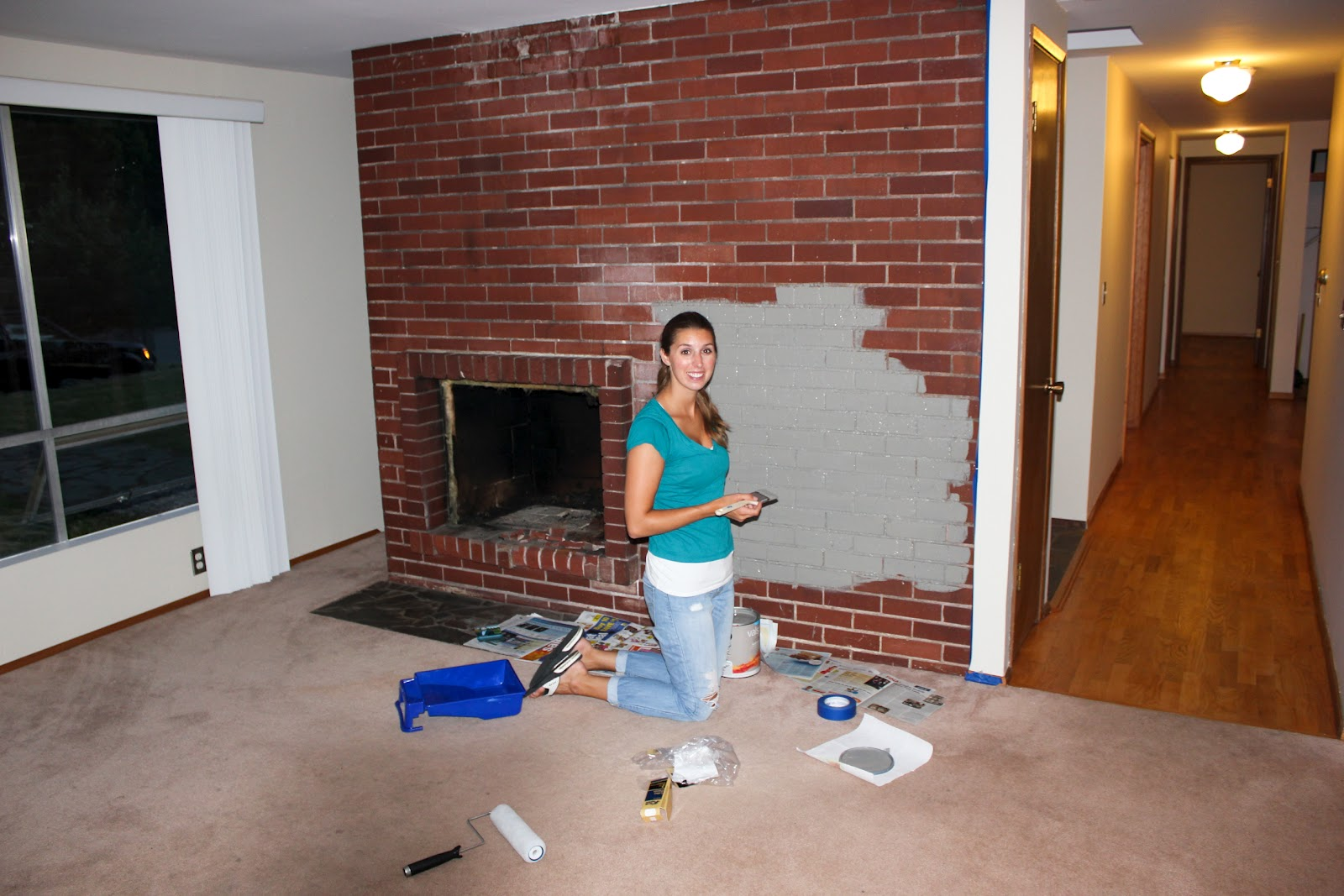 Paint colors brick fireplace fireplace design ideas for Fireplace paint color ideas