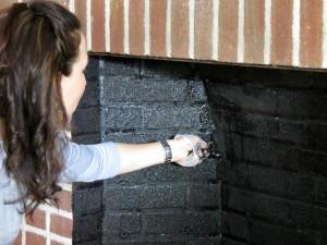 Paint Inside Fireplace Brick