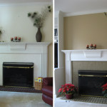 Painted Brick Fireplace Images