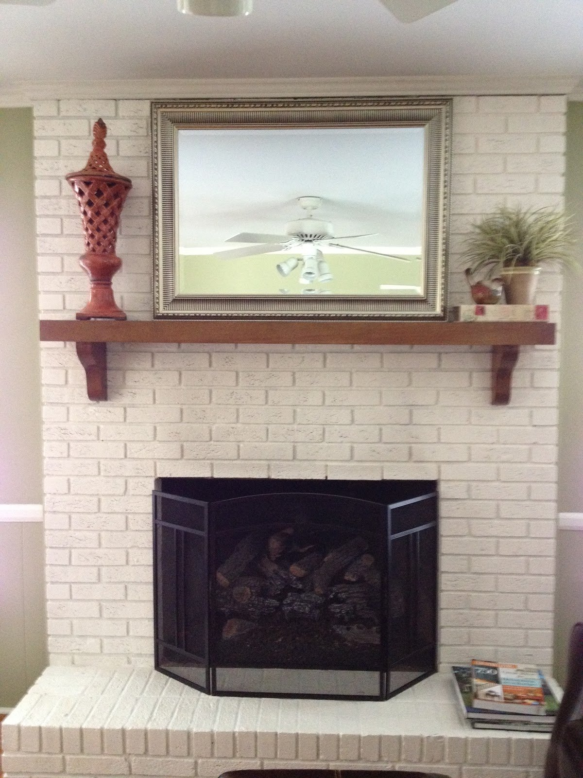 Painted Brick Fireplace Pictures