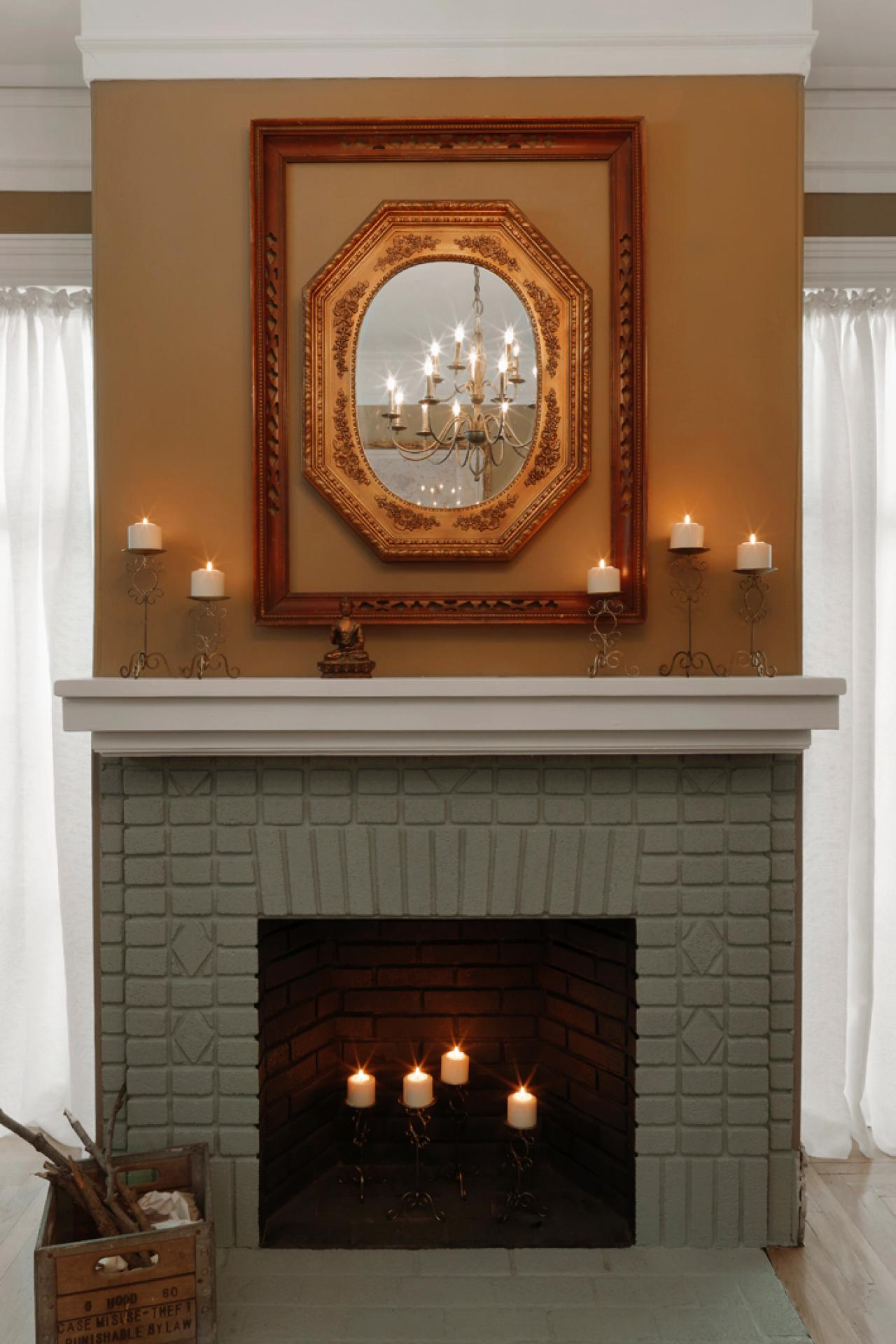 Painted Fireplace Brick Fireplace Design Ideas