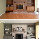 Painted Red Brick Fireplace