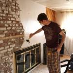 Painting a Brick Fireplace White
