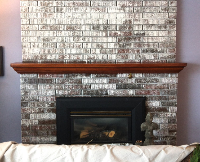 Painting a brick fireplace fireplace design ideas for Fireplace paint color ideas