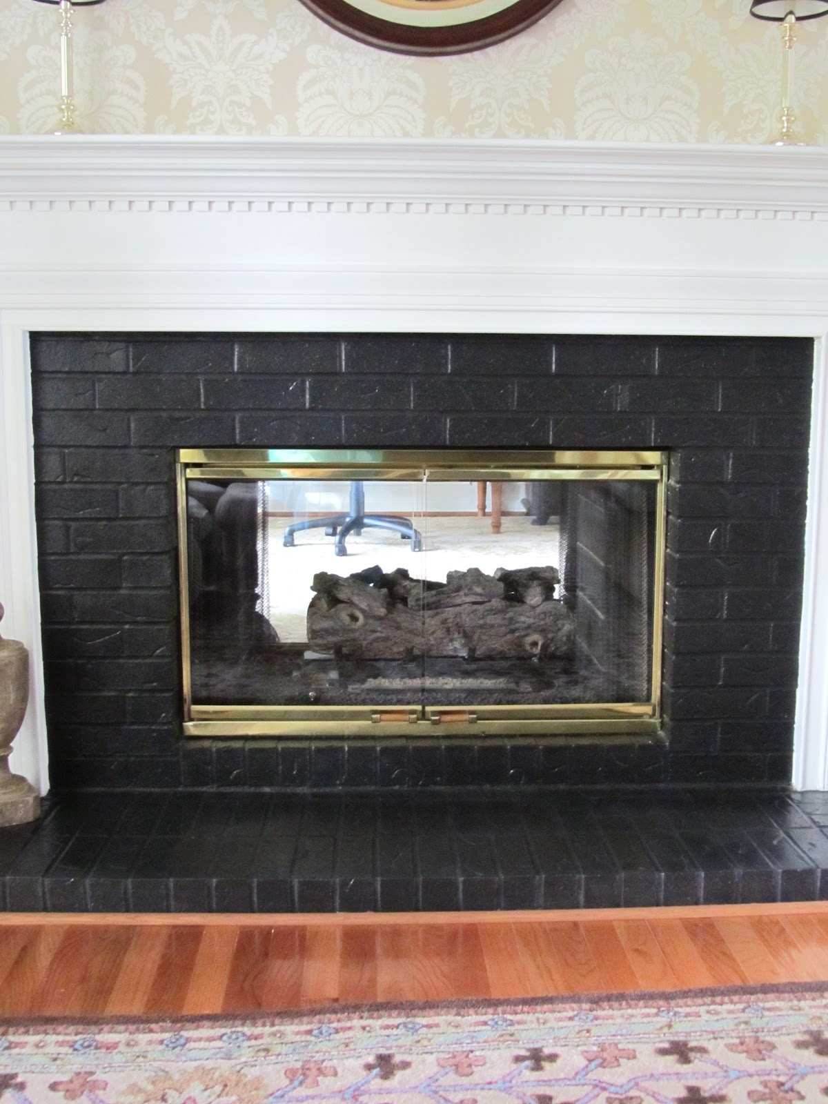 Painting Brick Fireplace Black FIREPLACE DESIGN IDEAS