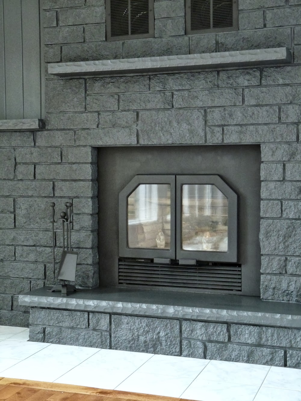 Painting brick fireplace grey fireplace design ideas for Fireplace paint color ideas
