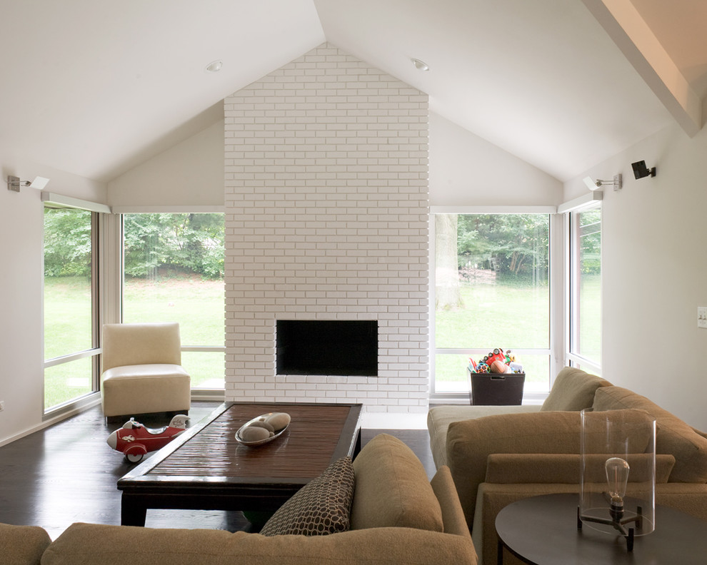 Bring A White Brick Fireplace To Your Life And House Fireplace Design Ideas
