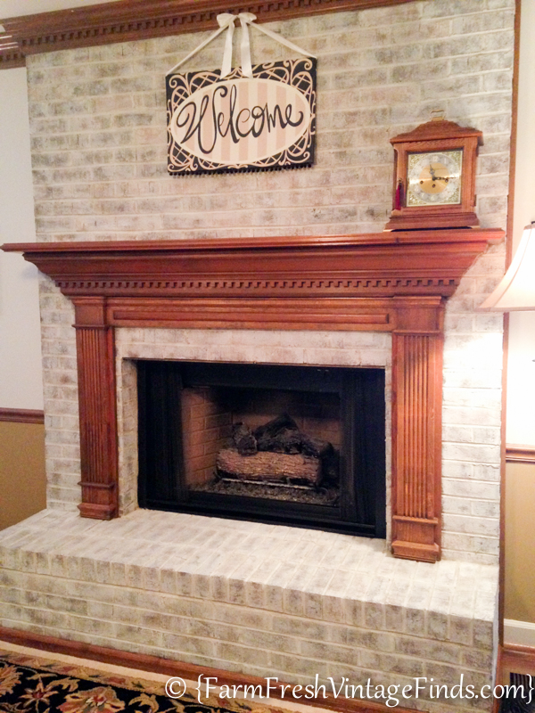 Painting Brick Fireplace Whitewash