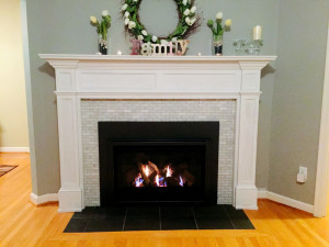 Painting Slate Fireplace Hearth