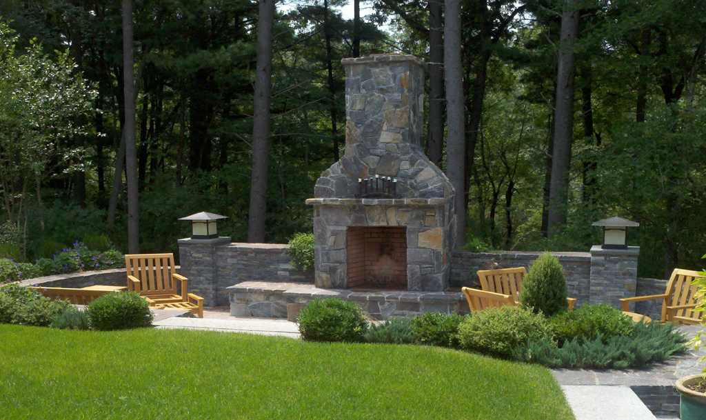 Patio Chimney Fire Pit FIREPLACE DESIGN IDEAS
