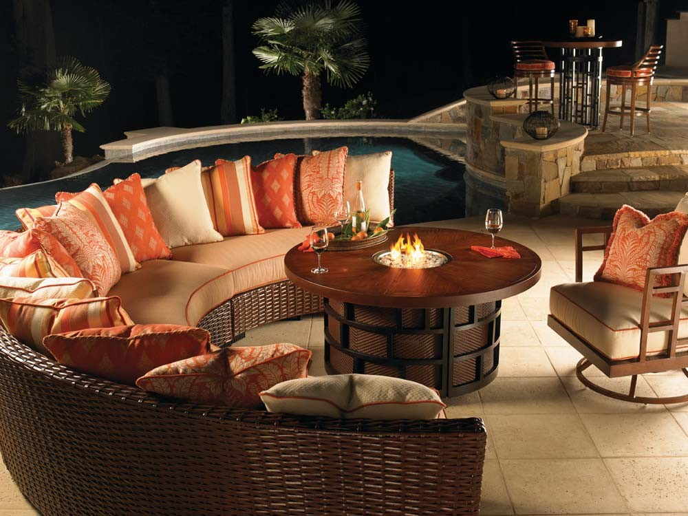 Patio Furniture Set With Fire Pit Table Fireplace Design
