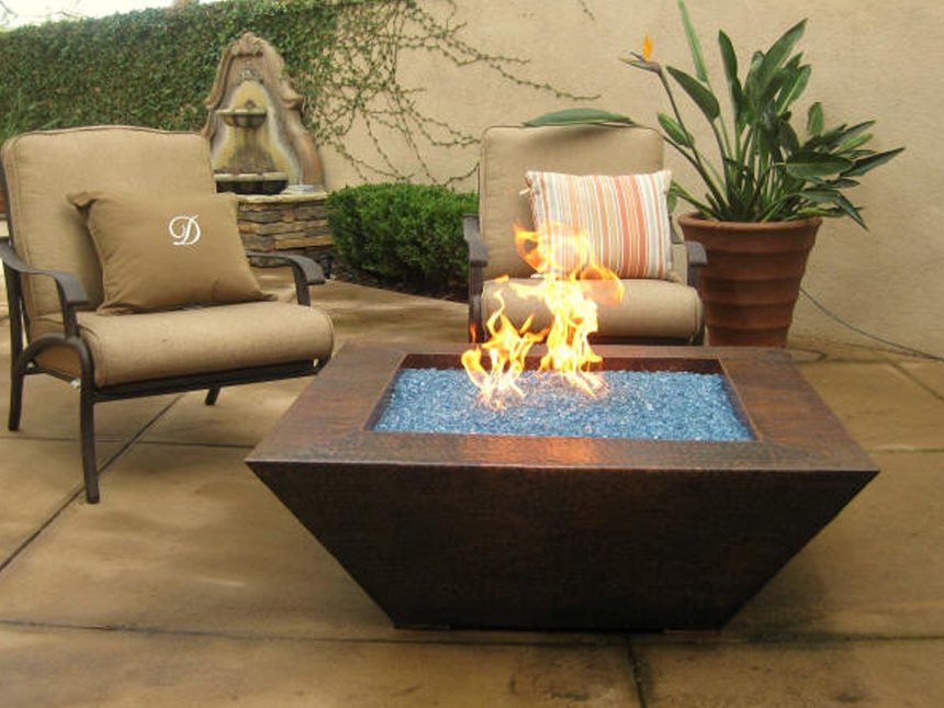 Patio Table with Fire Pit
