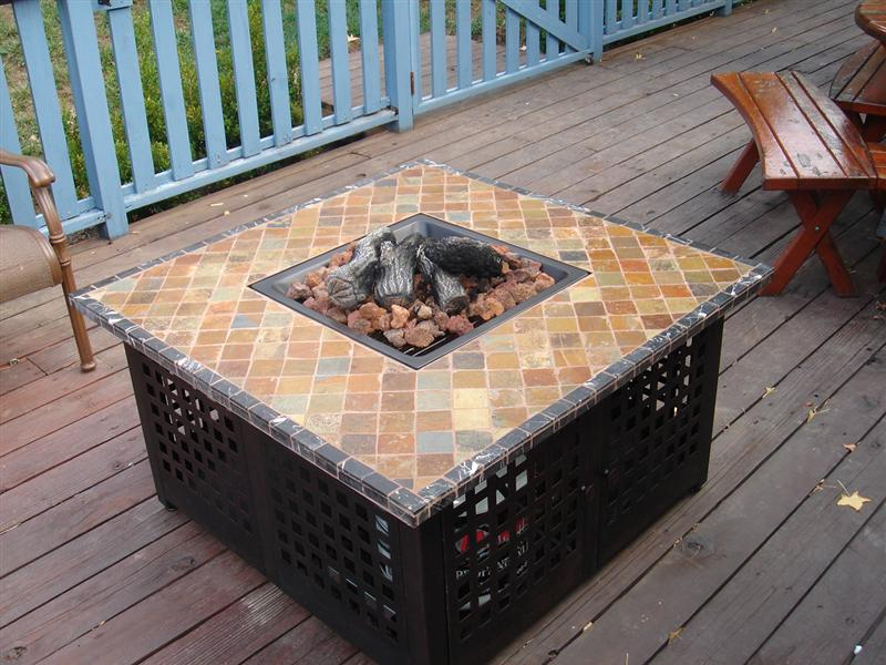 Merveilleux Patio Table With Propane Fire Pit