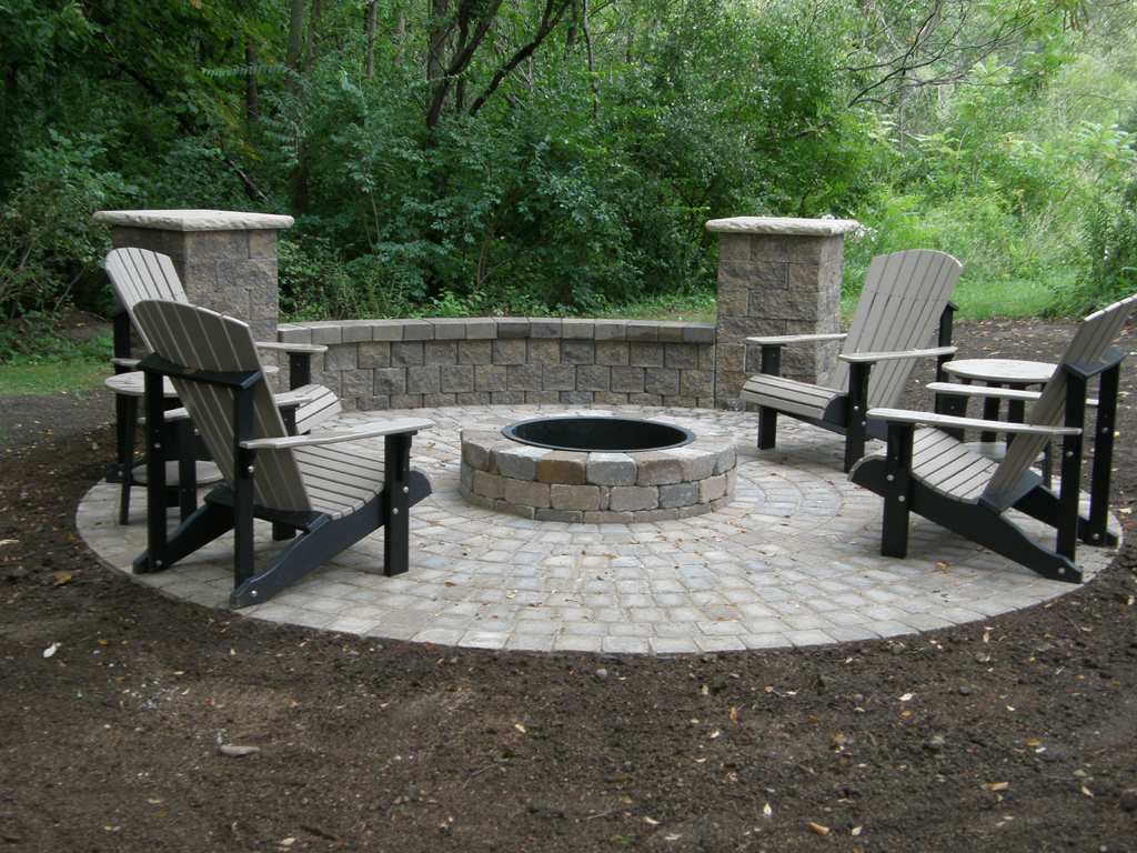 Paver Fire Pit Designs | FIREPLACE DESIGN IDEAS on Paver Patio With Fire Pit Ideas id=27914