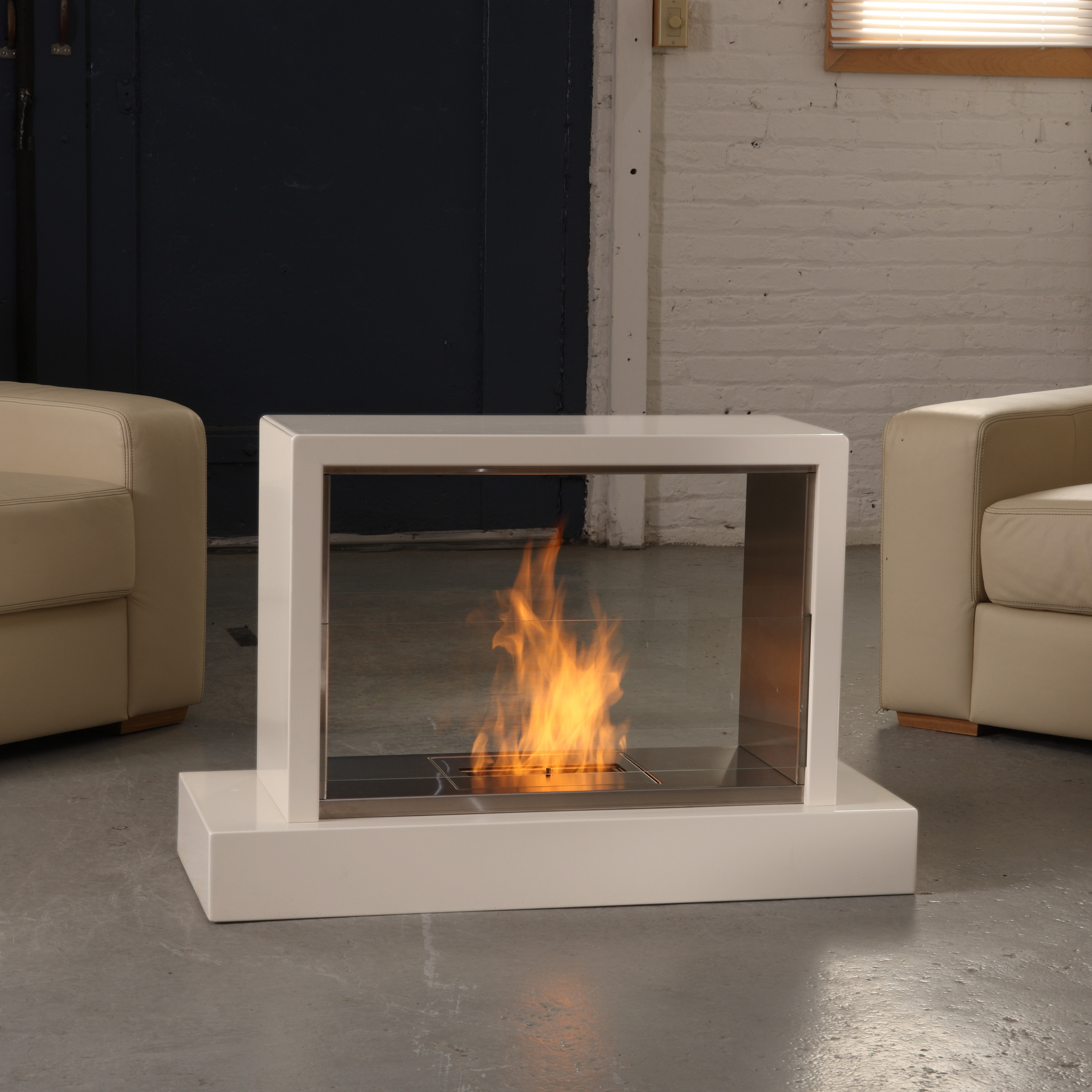 Portable electric fireplace indoor fireplace design ideas for Contemporary ventless gas fireplaces