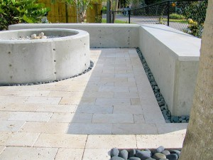 Poured Concrete Fire Pit