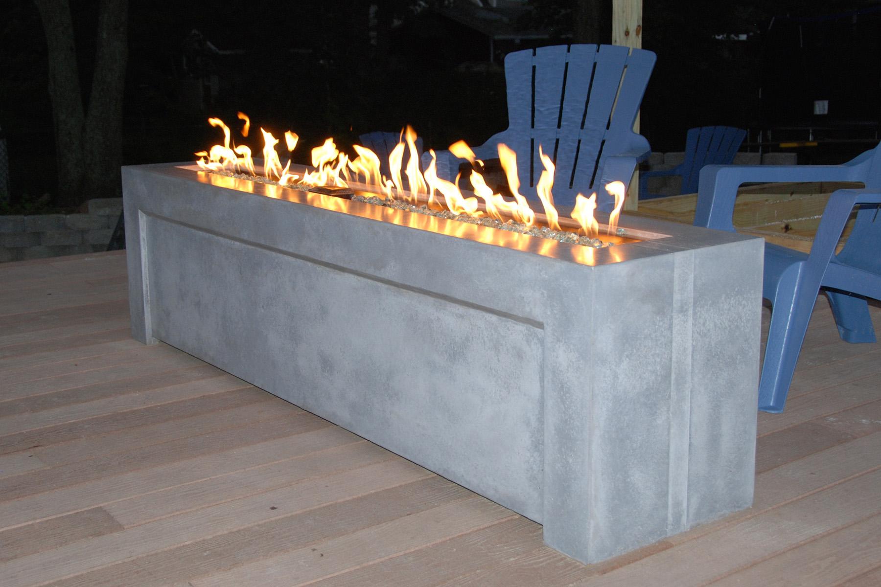Precast concrete fire pit fireplace design ideas for Concrete fire pit plans