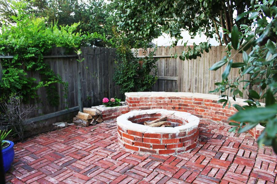 Red Brick Fire Pit Ideas Fireplace Design Ideas