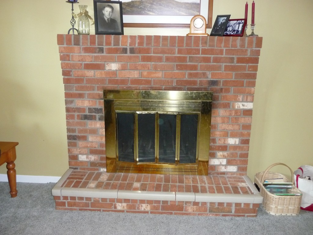 Discussing brick fireplace remodel options fireplace - Floor to ceiling brick fireplace makeover ...