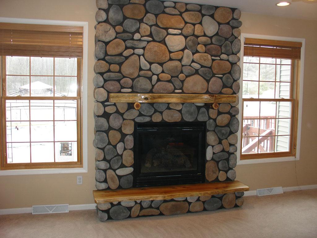 River Rock Electric Fireplace FIREPLACE DESIGN IDEAS