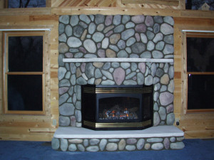 Diy river rock fireplace fireplace design ideas river rock fireplace surround solutioingenieria Choice Image