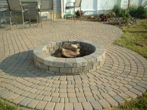Round Concrete Fire Pit