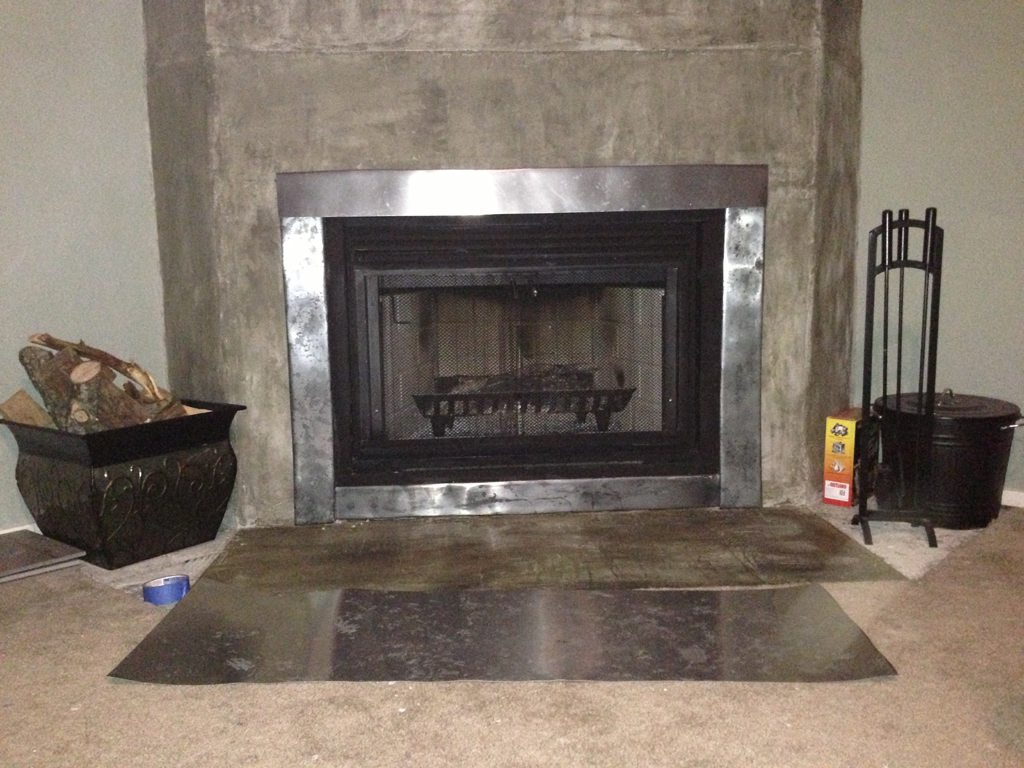 Sheet Metal Fireplace Surround