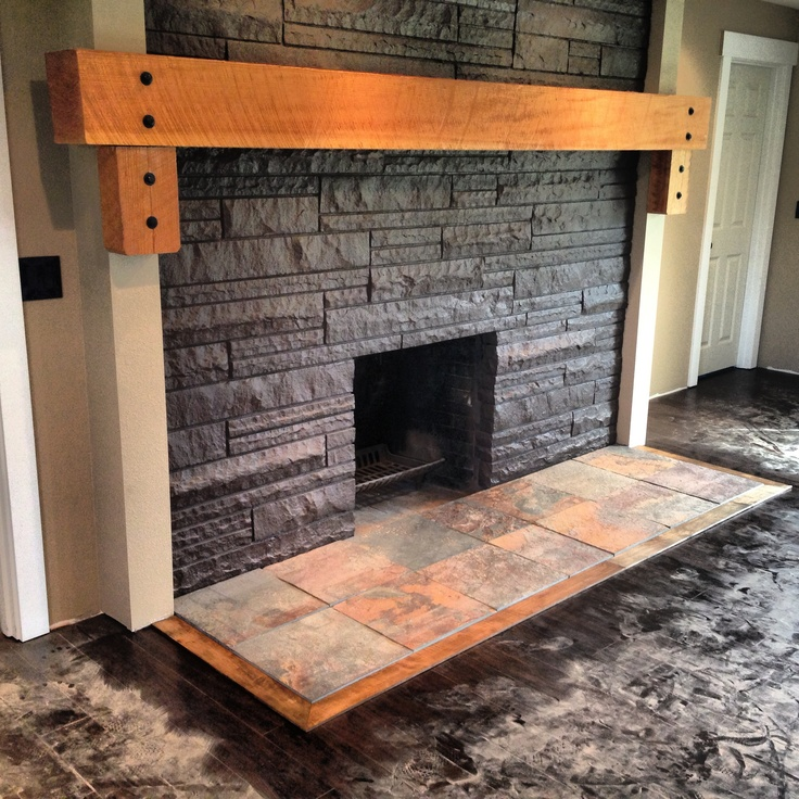 Slate Fireplace Hearth Design Ideas
