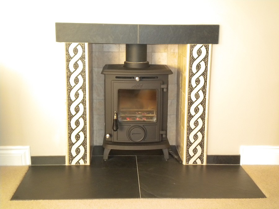 Slate Fireplace Hearth Tiles