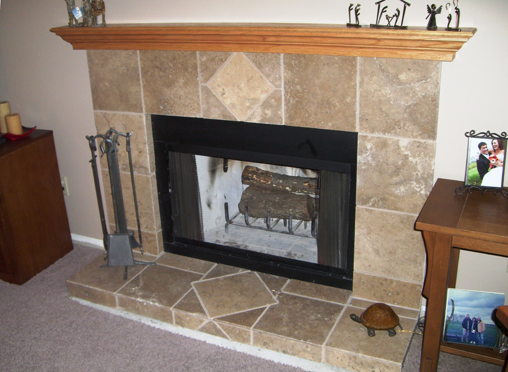how to cut fire for fireplace