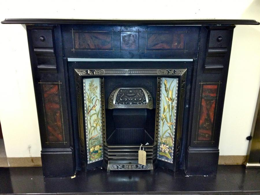 Black Slate Fireplace Surround : Slate for fireplace surround design ideas