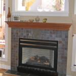 Slate Tile Fireplace Surround