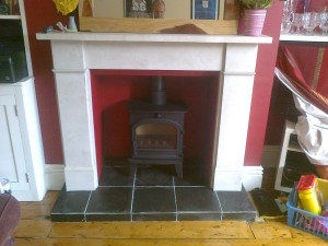 Slate Tiles for Fireplace Hearth