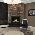 Small Corner Gas Fireplace