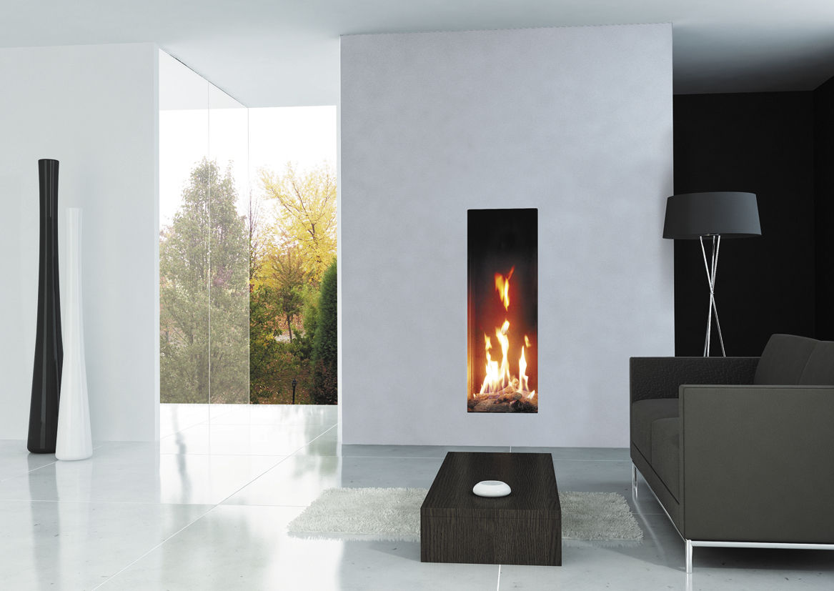 Small gas fireplace insert fireplace design ideas for Cheminee decorative murale electrique