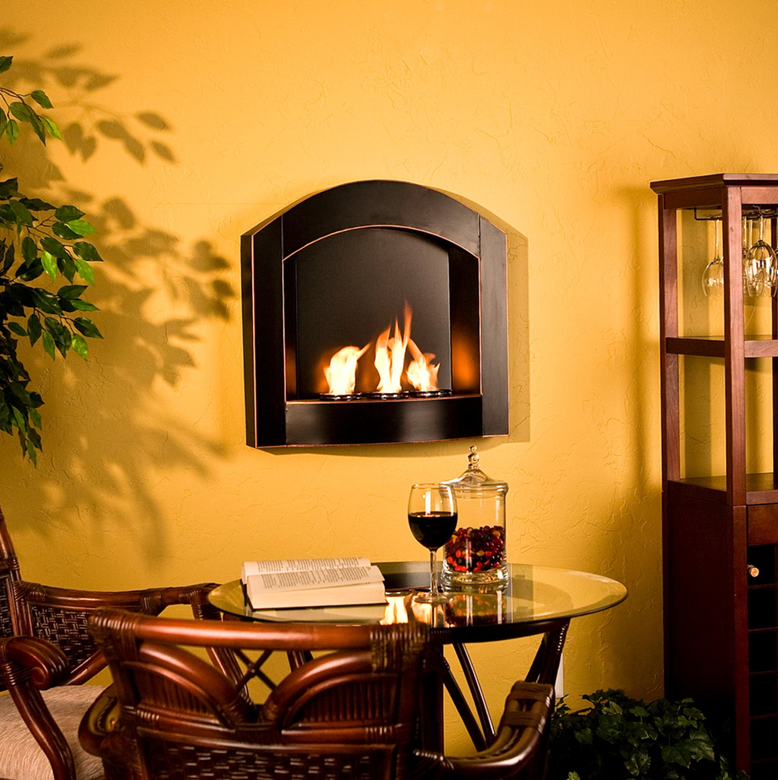 Small Wall Mounted Gas Fireplaces