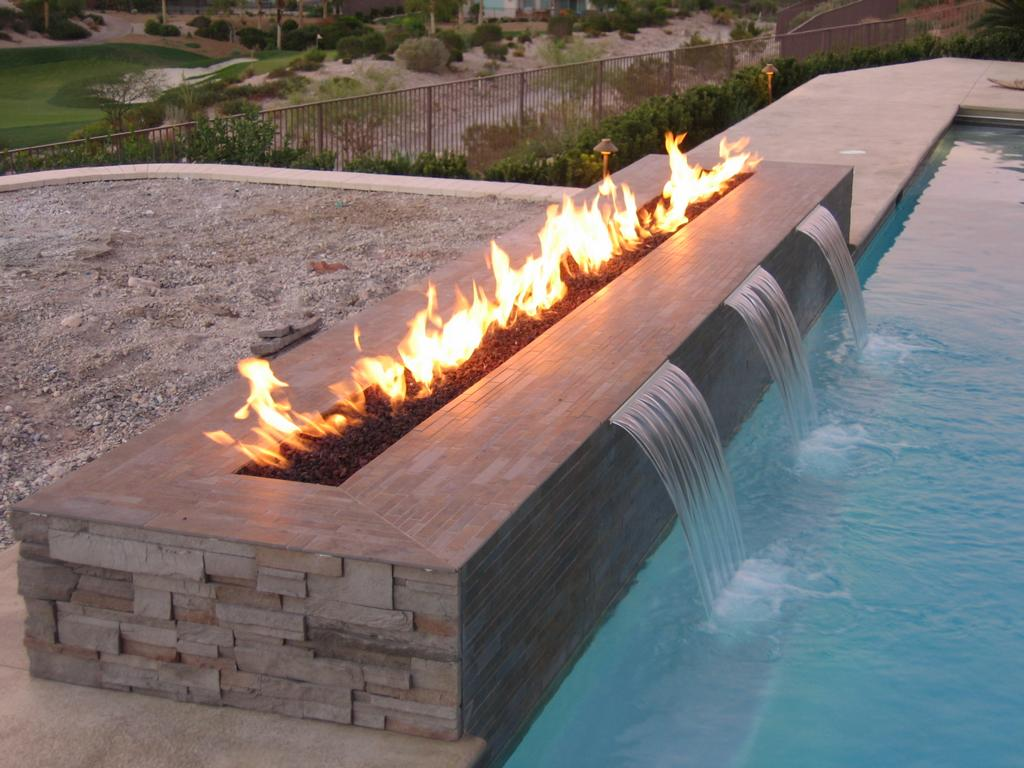 Small Outdoor Gas Fire Pit Fireplace Design Ideas