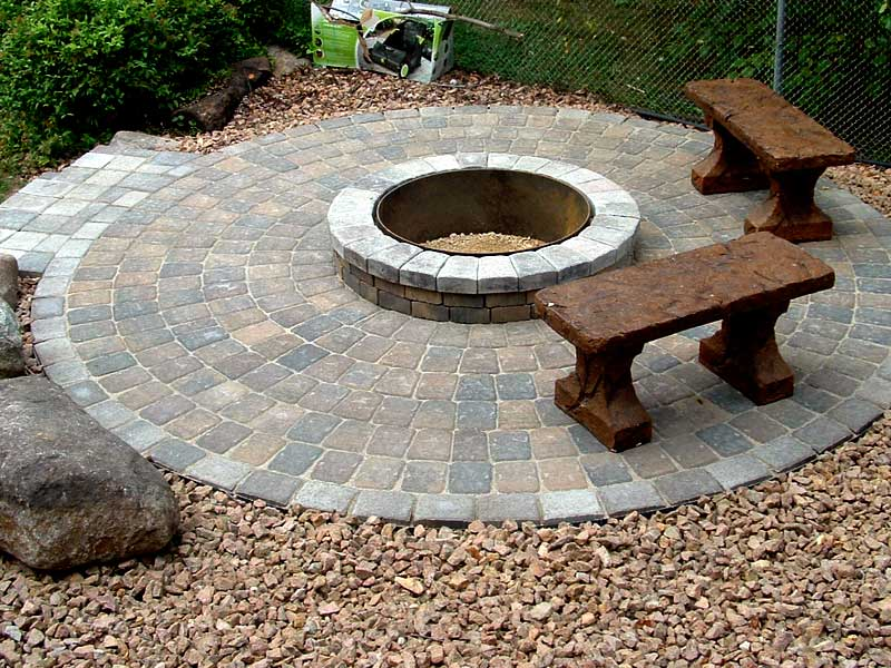 Small Patio Fire Pit Fireplace Design