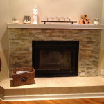 Stack Stone Fireplace Surround