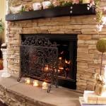 Stack Stone Fireplace Veneer