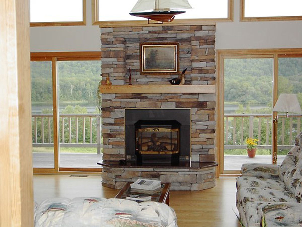 Stacked Slate Fireplace Surround