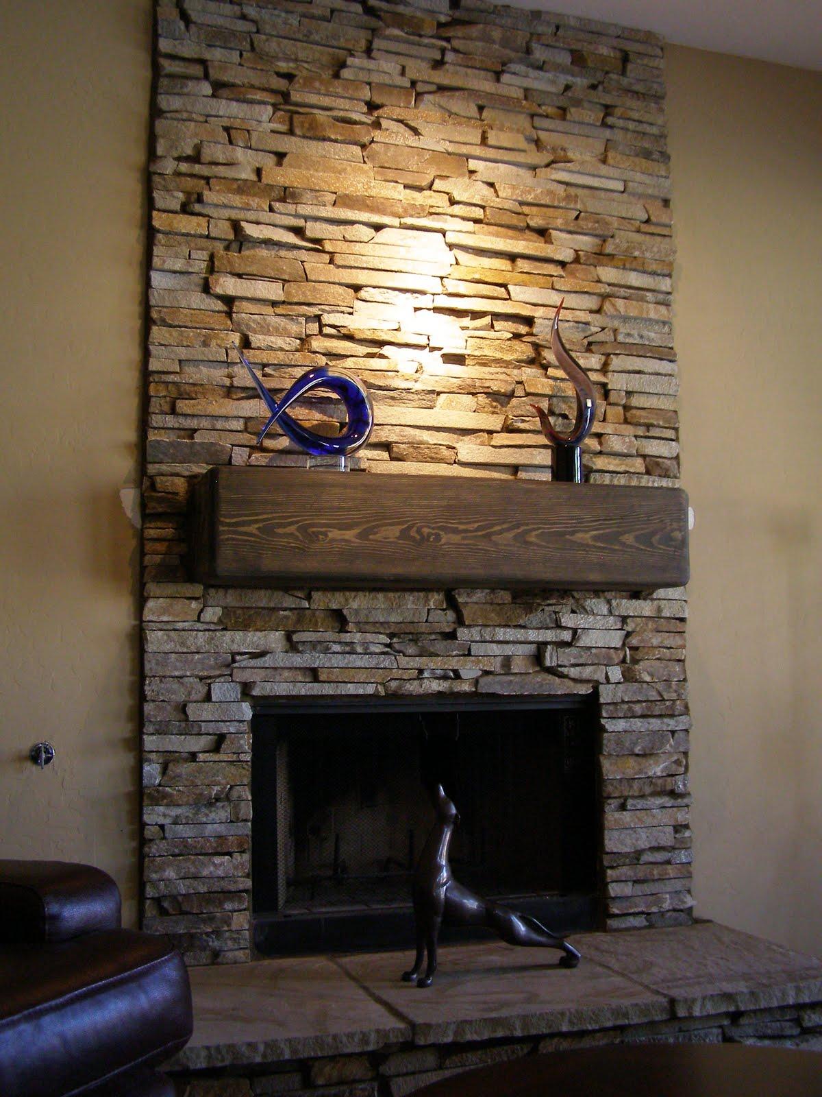 Stacked Stone Veneer Fireplace Fireplace Design Ideas