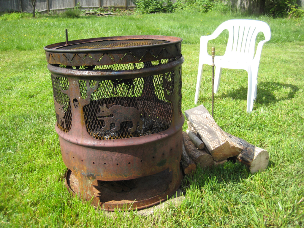 Steel Barrel Fire Pit