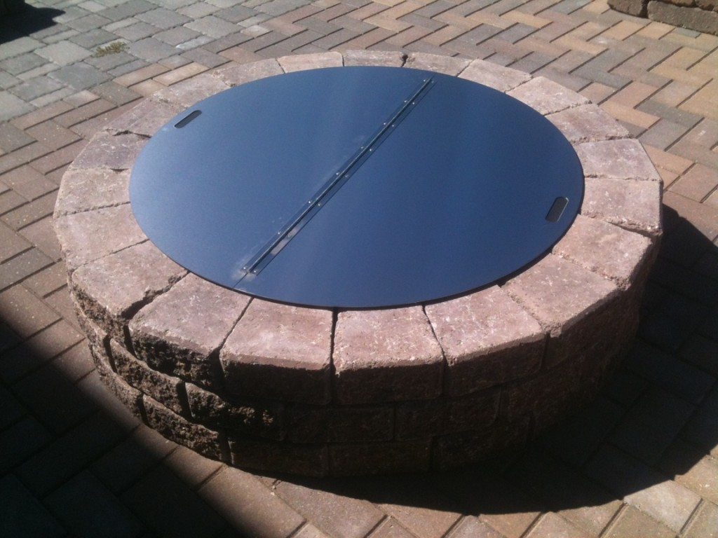 Steel Fire Pit Cover