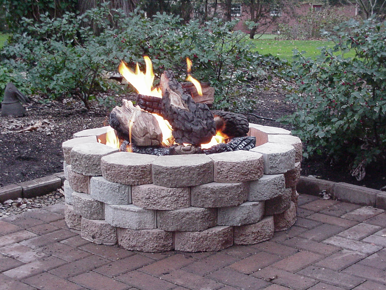 Steel Fire Pit Logs Fireplace Design Ideas