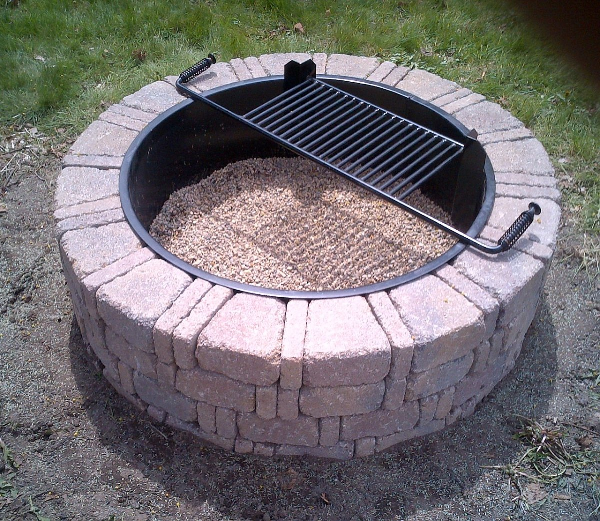 Fire Pit Ring : Steel insert for ring fire pit fireplace design ideas