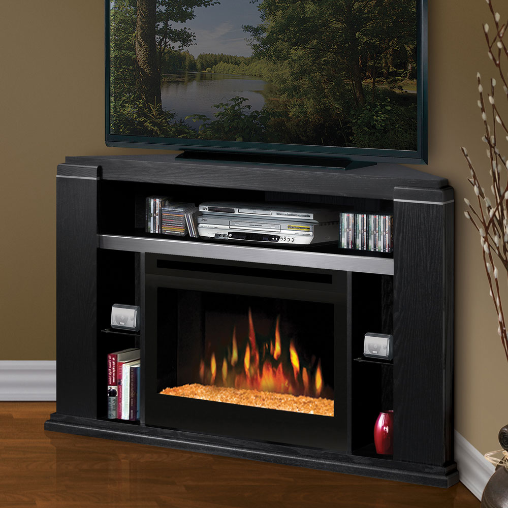 in a stone electric fireplace stone electric fireplace tv stand